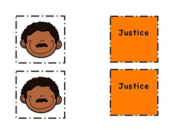 Martin Luther King MLK Go Fish Vocabulary Flashcards