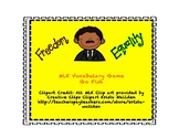 Martin Luther King MLK Go Fish Vocabulary Flashcards