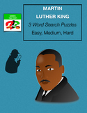 MARTIN LUTHER KING Word Search with Mystery Message - 3 levels