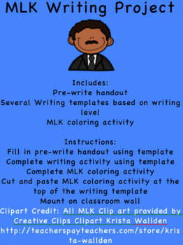 Martin Luther King MLK Writing Project