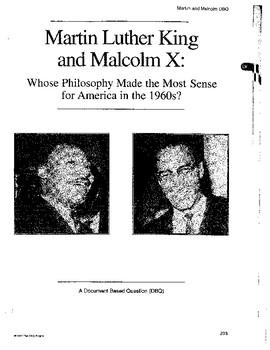 Martin Luther King & Malcolm X: DBQ