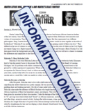 Martin Luther King, Malcolm X and Marvels Black Panther Readings and Worksheet