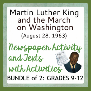 Martin Luther King March on Washington Civil Rights Bundle