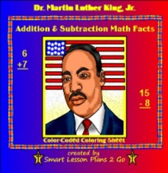 FREE Martin Luther King Math - Addition & Subtraction - PDF