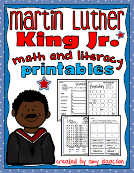 Martin Luther King Math and Literacy Printables