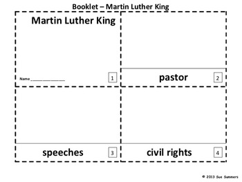 Martin Luther King 2 Emergent Reader Booklets in English