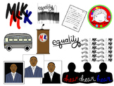 Martin Luther King Clipart (Personal & Commercial Use)