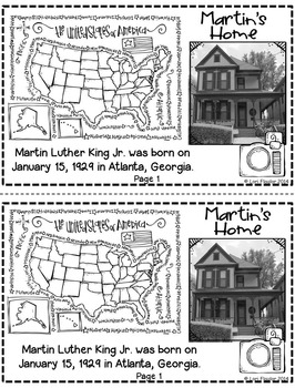 Martin Luther King Mini-book