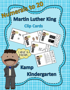 Martin Luther King Numerals to 20 Clip Cards