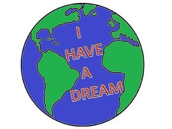 Martin Luther King Peaceful World Art Idea