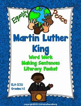 Martin Luther King: Word Work, Writing Sentences Literacy Packet