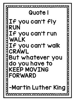 Martin Luther King Poster Quotes Freebie MLK Jr.