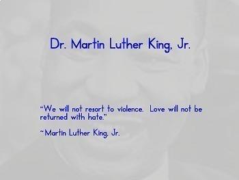 Martin Luther King Power Point - Kindergarten, 1st, 2nd, 3rd grade