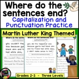 Martin Luther King Punctuation and Capitalization; Where do the sentences end?
