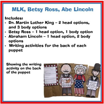 Martin Luther King Crafts - Paper Bag Puppets