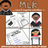 Martin Luther King: Reading Comprehension, Writing and Craftivities