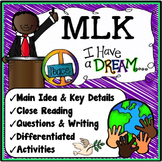 MLK Reading Comprehension {Martin Luther King Jr Activities}