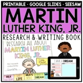 Martin Luther King Research Booklet and Writing Pages
