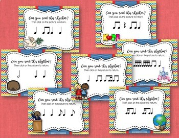 Martin Luther King Rhythms - Interactive Game BUNDLE, 7 Rhythm Review Games!