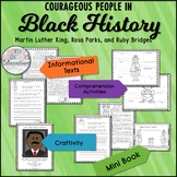 Black History Month Activities, Martin Luther King Jr, Ruby Bridges, Rosa Parks