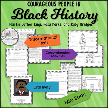 Black History Month Activities, Martin Luther King Jr, Rub