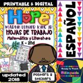 Martin Luther King Set of Printables for K-2nd - Updated 2018 - Spanish Version