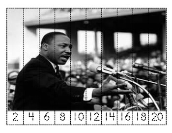 Dr. Martin Luther King Skip Counting Puzzles