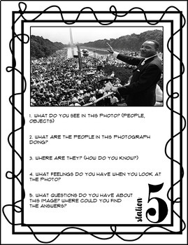 Martin Luther King Stations Activity
