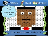 Martin Luther King Ten More/Ten Less - Watch, Think, Color Game! CCSS.1.NBT.C.5