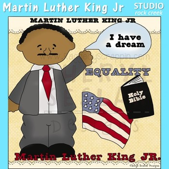 Martin Luther King US History Color Clip Art  C. Seslar