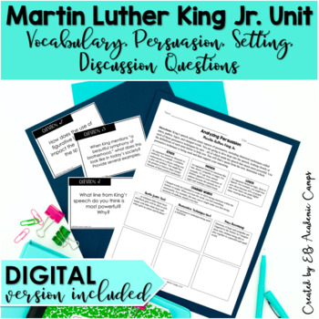 Martin Luther King Jr I Have A Dream Reading Writing Activity