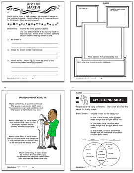 Martin Luther King Jr. National Holidays Unit–TEN Martin Luther King Activities