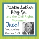 Martin Luther King Vocabulary FREE