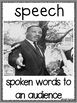 Martin Luther King Vocabulary Posters