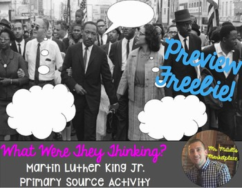 Martin Luther King: What Were They Thinking? PREVIEW FREEBIE