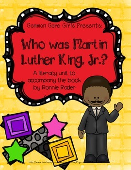 Guided Reading: Who Was Martin Luther King- Common Core, No Prep, Printables