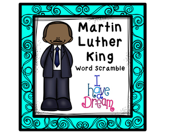 Martin Luther King Word Scramble