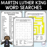 Martin Luther King Jr Word Searches MLK