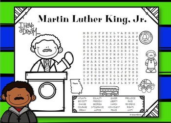 Martin Luther King Word Search / MLK Word Search