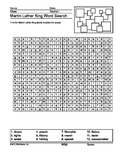 Martin Luther King Word Search Printable