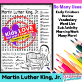 Martin Luther King, Jr. Word Search Activity