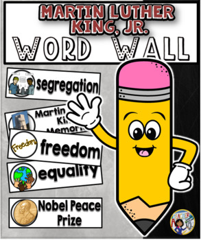 Martin Luther King Word Wall Cards Set