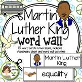 Martin Luther King Word Wall (includes word list and word