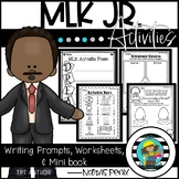 Martin Luther King Jr Activities (MLK Craft, and MLK Writing prompts)