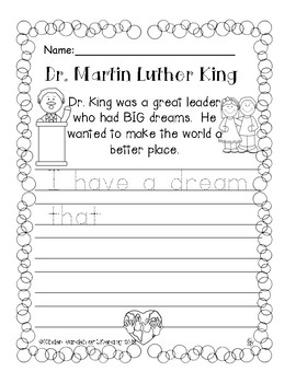 Writing Dr.Martin Luther King