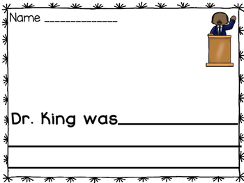 Martin Luther King Writing Activities