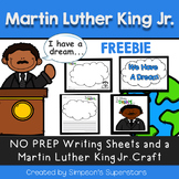 Martin Luther King Writing Craftivity FREEBIE