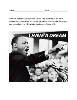 Martin Luther King Writing Assignment