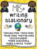 Martin Luther King Day Writing Paper--MLK Day Writing Stationary--DIFFERENTIATED