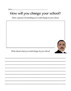 Martin Luther King Writing Prompt!